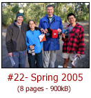 Trip reports: Phillip Island, Leanganook Tk, Mt buller; Worst Food in the Bush, In profile: Catherine Koh & Darren Yan; Dr T's Walk from the Vault #1-'Adventure a Plenty; Equipment News: Leech-proof clothing, Philip Nitschke First Aid Kit, Edible Gear