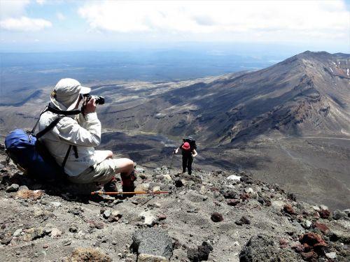 Ascending Mt Ngauruhoe.
